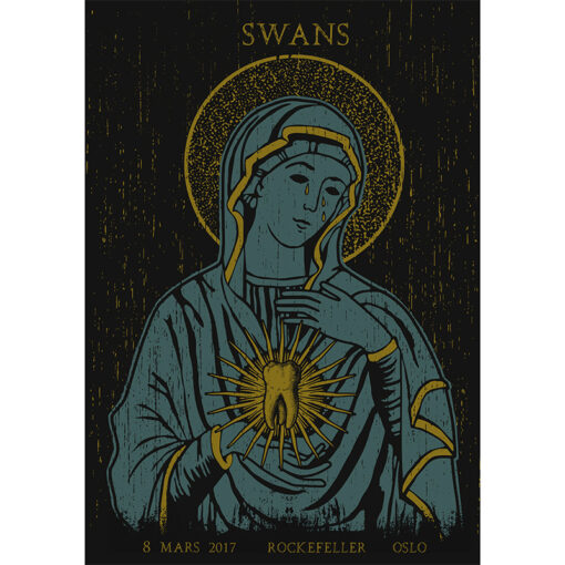 product photo of gig poster for Swans in Oslo 2017
