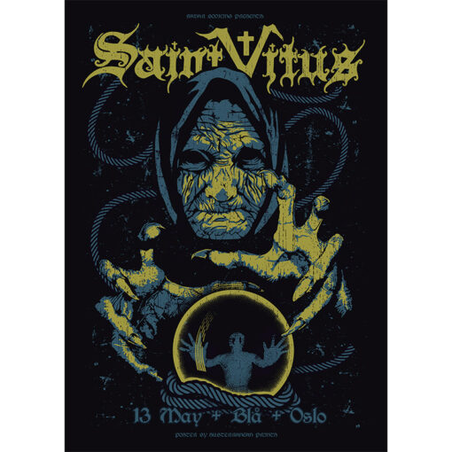 product photo of gig poster for Saint Vitus, Oslo 2017
