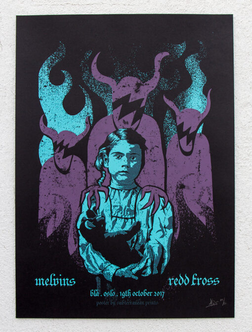 product photo of gig poster for Melvins and Redd Kross