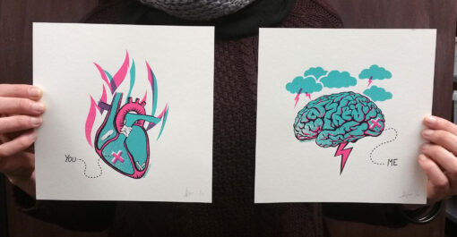 product photo of Brain / Heart art print