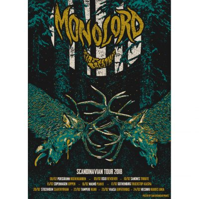 product photo of tour poster for Monolord and Firebreather