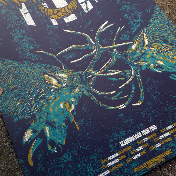 Detail photo of tour poster for Monolord and Firebreather