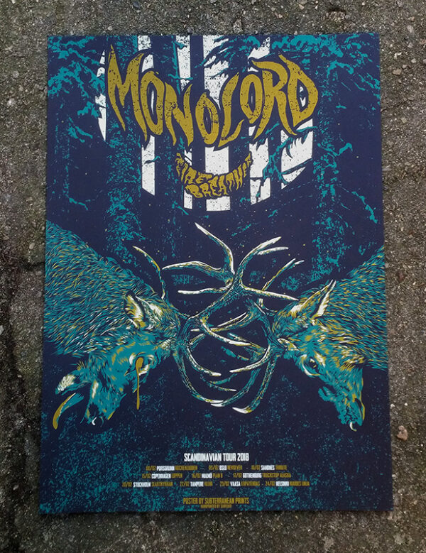 product photo of Monolord and Firebreather tour poster