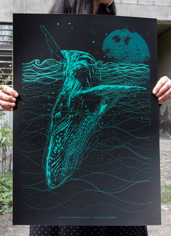 photo of the Blue Whale art print
