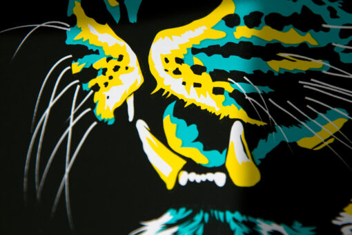 Detail photo of Cheetah Head art print