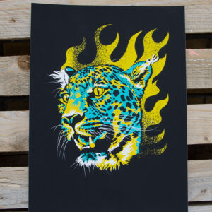 product photo of Cheetah Head art print