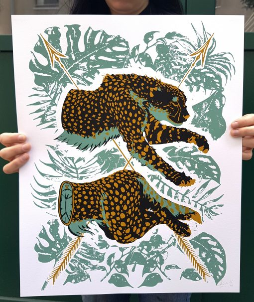 product photo of Dark Jungle art print