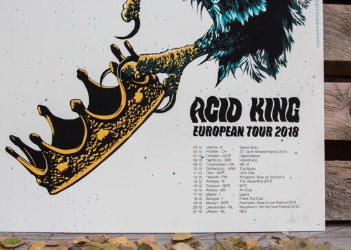 Detail photo of tour poster for Acid King