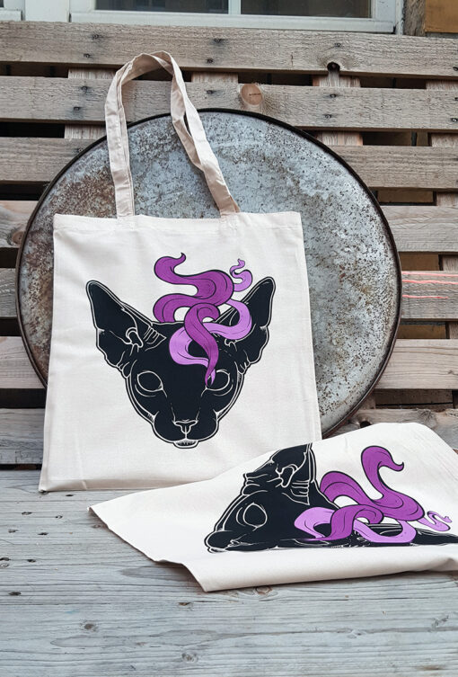 product photo of Mystic Cat tote bag