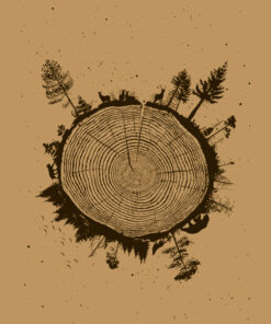 product photo of Planet Tree art print