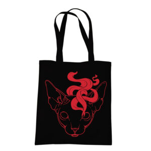 product photo of Mystic Cat black tote bag