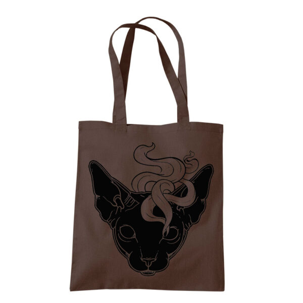 product photo of Mystic Cat tote bag grey