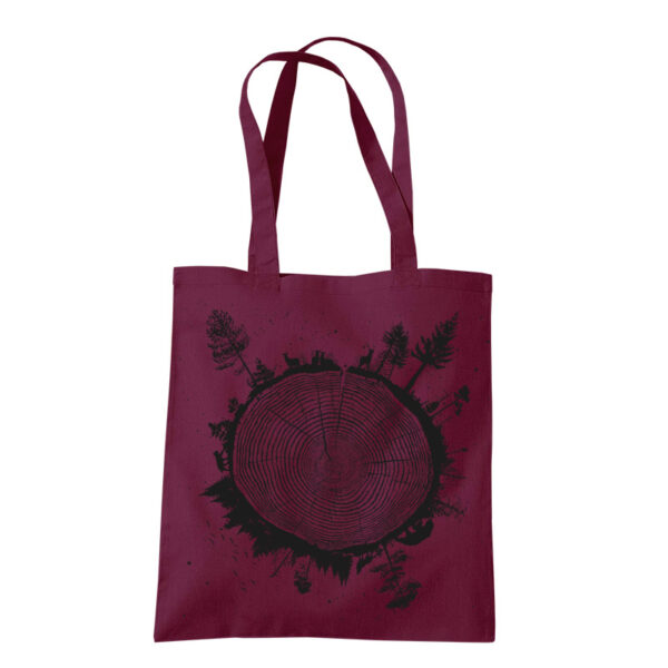 product photo of Planet Tree tote bag burgundy color