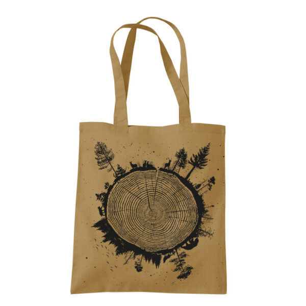 product photo of Planet Tree tote bag caramel color