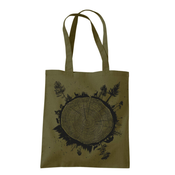 product photo of Planet Tree tote bag olive green color