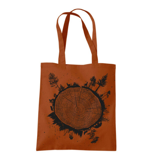 product photo of Planet Tree tote bag rust color