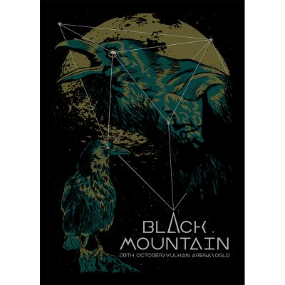 Design of gig poster for Black Mountain, Oslo 2016