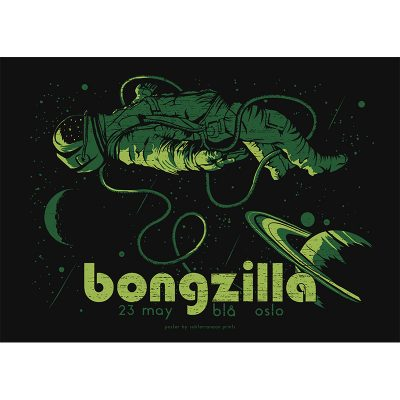 Design of gig poster for Bongzilla, Oslo 2017