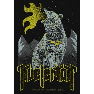 design of gig poster for Kvelertak, Bilbao 2018