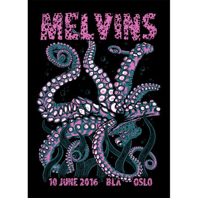 design of gig poster for Melvins, Oslo 2016