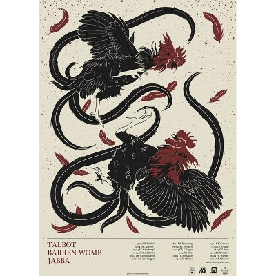 design of tour poster for Talbot, 2018