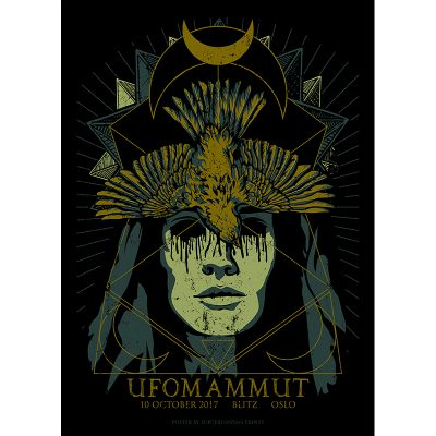 design of gig poster for Ufomammut, Oslo 2017