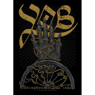 design of gig poster for YOB, Oslo 2016