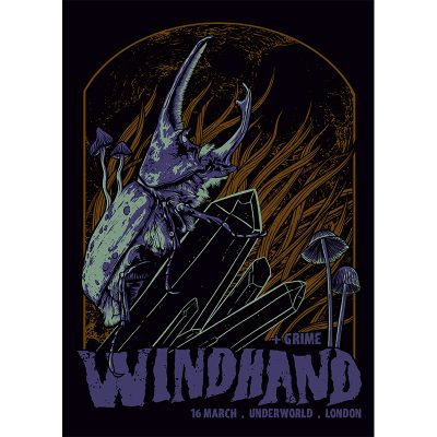 Gig poster for Windhand, 2019