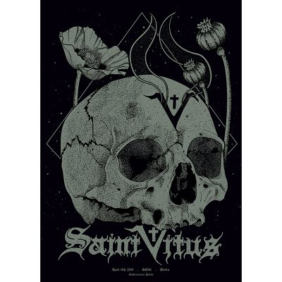 Gig poster for Saint Vitus, 2019